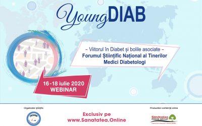WEBINAR YoungDIAB 2020 – Forumul Științific Național al Tinerilor Medici Diabetologi, Ediția a IV-a