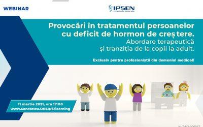 11.03.2021   Provocări în tratamentul persoanelor cu deficit de hormon de creștere
