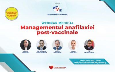 05.02.2021 | WEBINAR Managementul anafilaxiei post-vaccinale