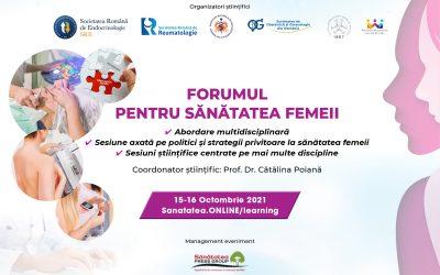 15-16.10.2021   Forumul pentru Sănătatea Femeii
